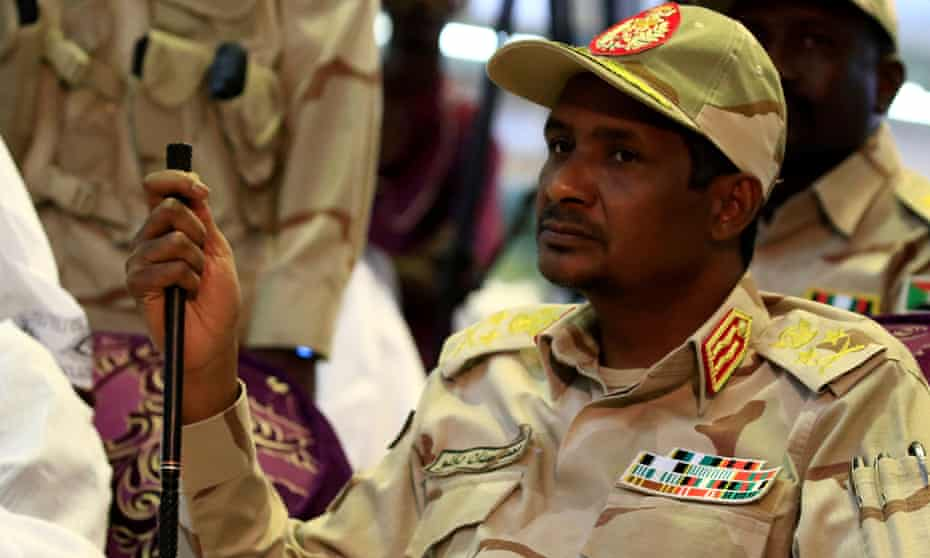 Mohamed Hamdan Dagalo, head of Sudan's Rapid Support Forces, at a meeting in Khartoum
