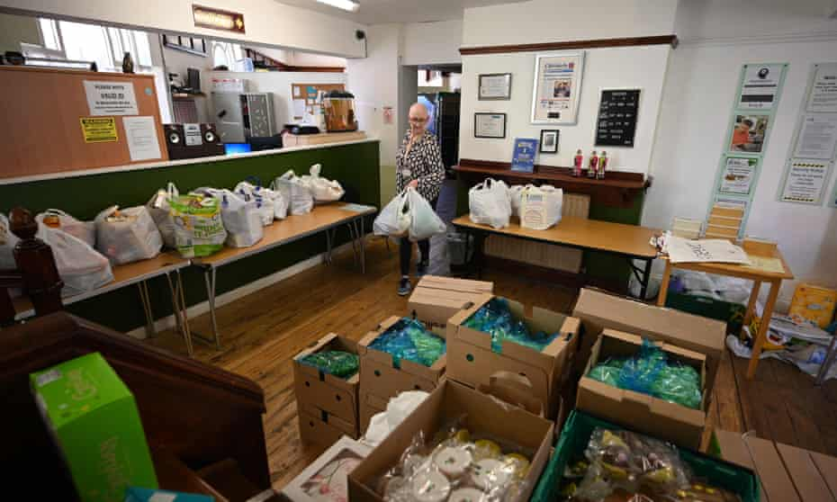A food bank in Oldham