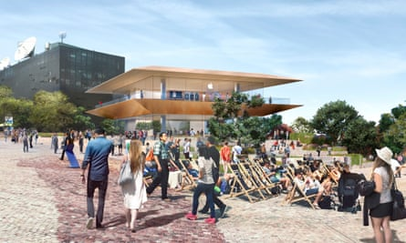 Apple's design for its new flagship store in Federation Square, Melbourne.
