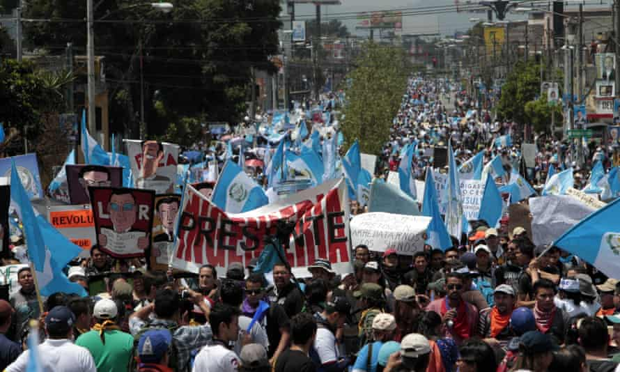 Guatemala City protest