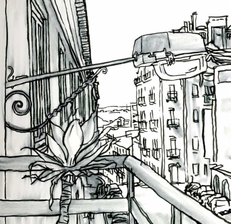 Rua S. Felipe Neri viewed from an apartment's balcony, Amoreiras