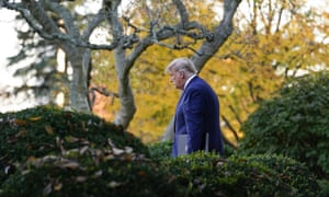 Donald Trump arrives to speak in the Rose Garden of the White House on 13 November.