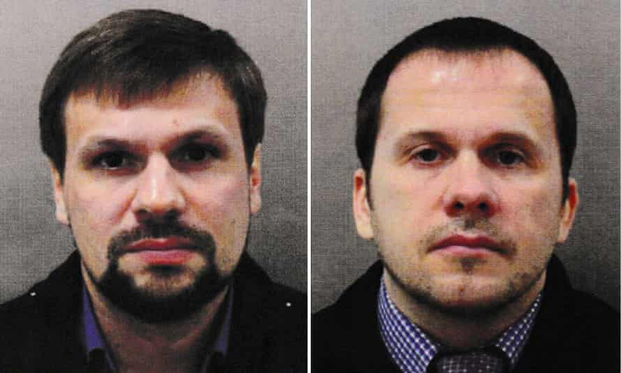 The two suspects were travelling on Russian passports under the names of Alexander Petrov and Ruslan Boshirov.
