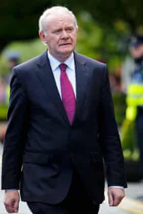 Northern Ireland's deputy first minister, Martin McGuinness, was also at the event.