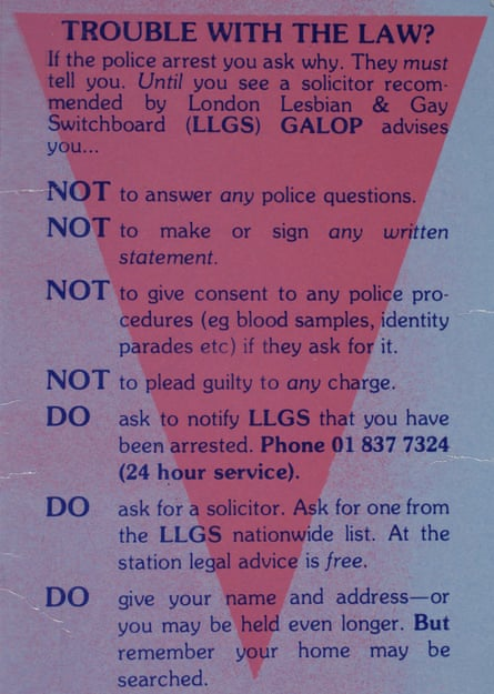 Lesbians and Policing Project pamphlet, 1990.