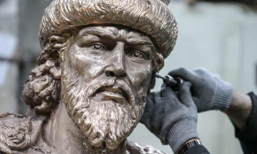 A monument to the founder of the city of Oryol, Ivan the Terrible,