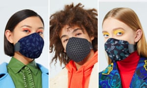 Manufacturer Meo and New Zealand fashion designer Karen Walker created these reusable face masks with air filters. They feature interchangeable covers that can be matched to the wearer's outfit.