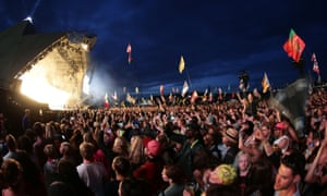 Saturday night on the Pyramid stage at Glastonbury in 2015.