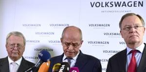 Volkswagen's supervisory board announcing Martin Winterkorn's resignation last night.