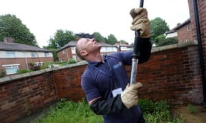 Shane Roxby works in pest control for Durham county council