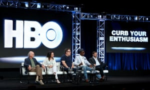cast of curb your enthusiasm at a panel
