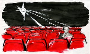 'Life is different when writing for the screen' … David Hare. Illustration: Alan Vest