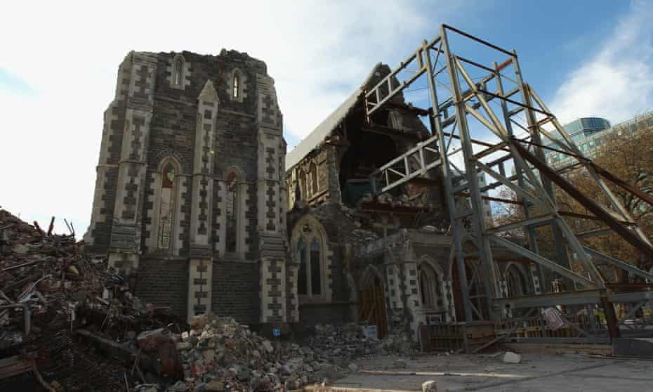 Christchurch cathedral pictured on 28 September 2011, seven months after the earthquake