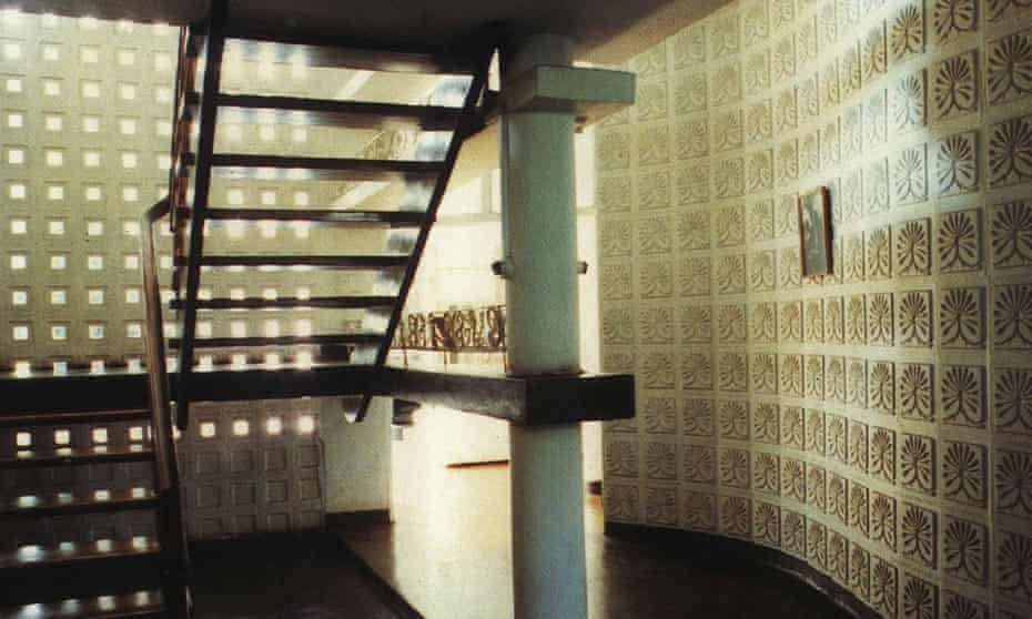 Patterned tiles in De Saram House. Colombo 1957