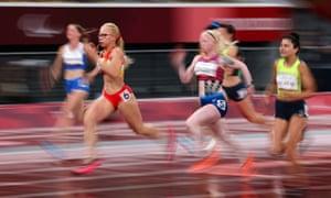 Adiaratou Iglesias Forneiro of Spain wins the Women's T13 100m final.
