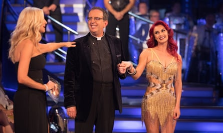 Rev Richard Coles with dance partner Dianne Buswell.