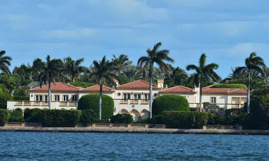 Trump has changed his address to his Mar-a-Lago resort but neighbours are contesting his right to spend more than 21 days a year there.