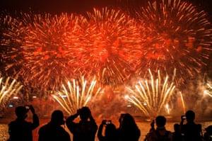 New Year countdown celebrations in Hong Kong