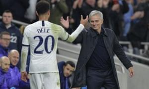 José Mourinho and Dele Alli
