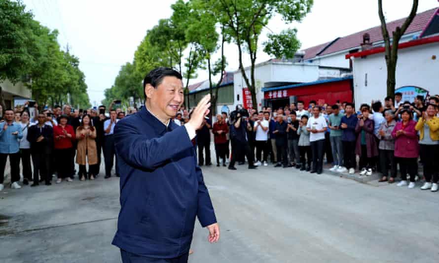Personality politics … President Xi Jinping inspecting Zhouzhuang Village, Xichuan Country in Henan province.