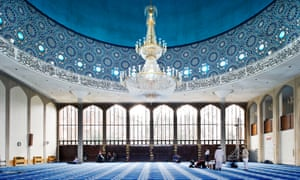 The main prayer hall of the London Central mosque