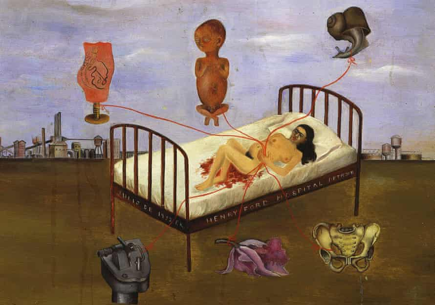 Detail from Henry Ford Hospital by Frida Kahlo.