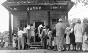 African Americans in Wilcox County, Alabama, able to vote for the first time in 1965.
