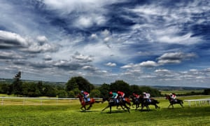 Salisbury racecourse captured in better weather than is the case on Monday.