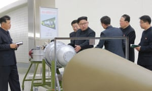 Kim Jong-un inspects what North Korea says is part of its nuclear weapons programme.