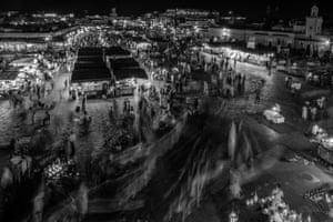 An market seen from above