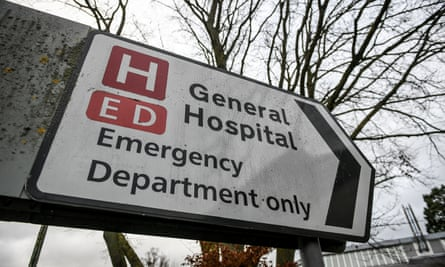 ED sign outside a hospital