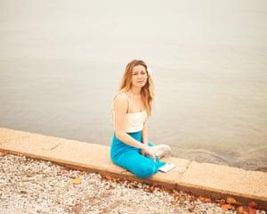 Caroline Calloway poses for a portrait on Thursday, April 16, 2020 in Sarasota, Florida