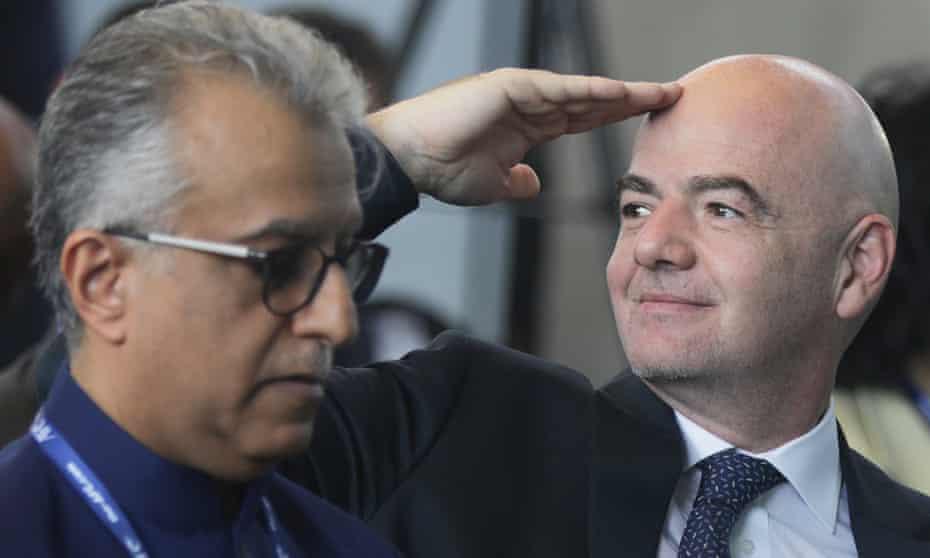 Sheikh Salman al-Khalifa and Gianni Infantino