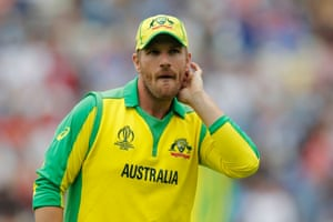 Aaron Finch, downbeat after defeat.