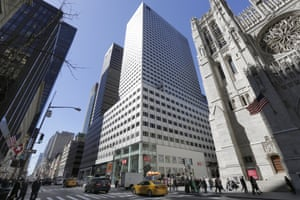 The 666 Fifth Avenue skyscraper, center, controlled by Kushner Companies.