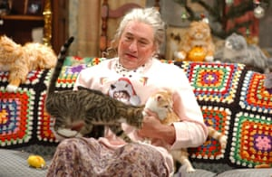 Robert De Niro's Christmas with the Cat Lady sketch on Saturday Night Live.