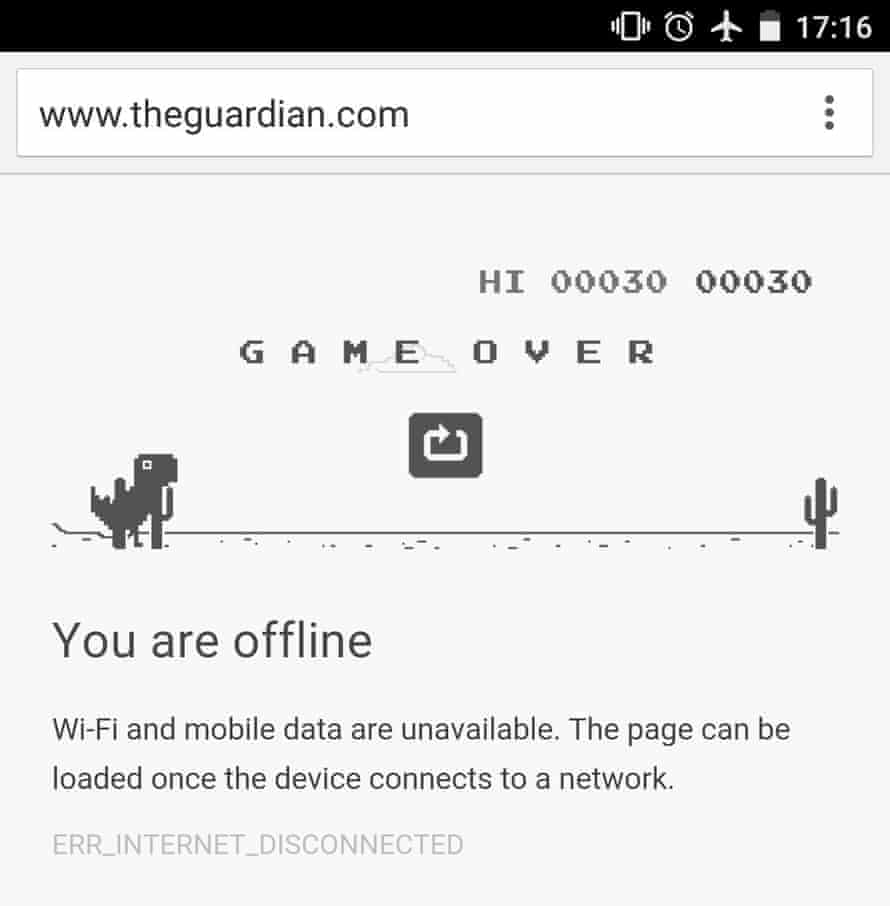 Chrome for Android's offline page