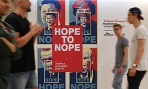 Posters for the Hope to Nope exhibition at the Design Museum