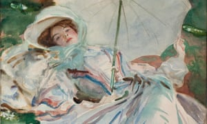Detail from John Singer Sargent's 1911 painting The Lady With the Umbrella.