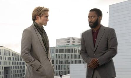 Robert Pattinson (left) and John David Washington in Tenet