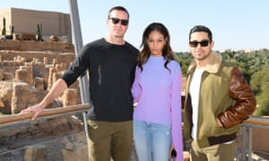 Armie Hammer, Joan Smalls and Wilmer Valderrama attend the MDL Beast Festival Lunch at the historical city of Diriyah in Riyadh