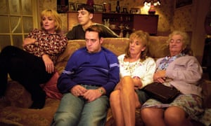 Liz Smith (far left) in her role as Nana in the Royle Family.
