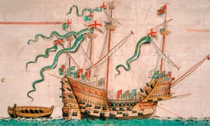 Illustration of the carrack Mary Rose, circa 1546