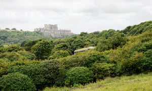 Dover Castle from the National Trust visitor centre