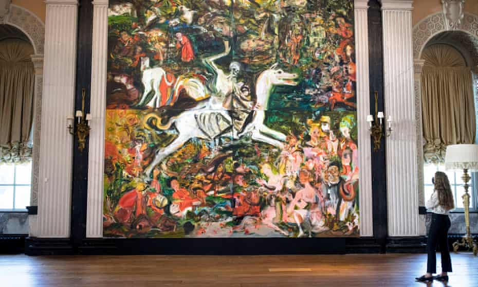 Cecily Brown's 5.36-sq-metre work The Triumph of Death on display at Blenheim Palace
