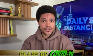"""Trevor Noah on the Catch-22 of reopening America's schools as coronavirus case numbers hold: """"Until these issues are resolved, most parents in America are stuck between a rock and a hard place. Because what do you do? Do you keep your kids at home, teach them yourself, and eventually blow your brains out? Or do you take the risk, send them to school, and gamble with your family's health?"""""""