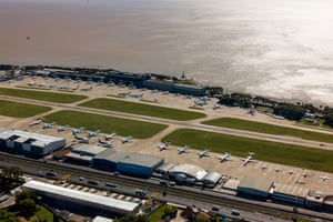 Aerial view of Buenos Aires's International airport