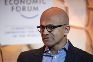 Satya Nadella, Chief Executive Officer Microsoft, during the 50th annual meeting of the World Economic Forum (WEF) in Davos.