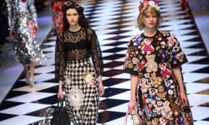 The Dolce & Gabbana catwalk show in Milan.
