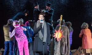 Andy Karl as Phil Connors, centre, in Tim Minchin and Matthew Warchus' musical Groundhog Day.